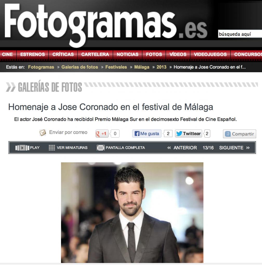 Miguel Angel Munoz en el homenaje a Jose Coronado