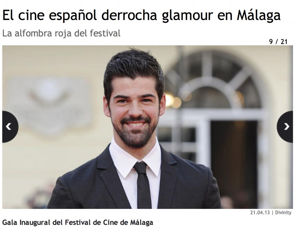 El cine espanol derrocha glamour en Malaga