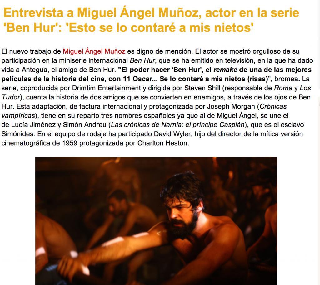 Miguel Angel Munoz Ben Hur