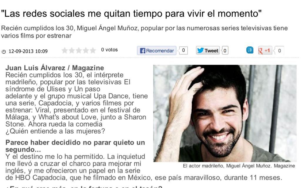 Miguel Angel Munoz Las redes sociales