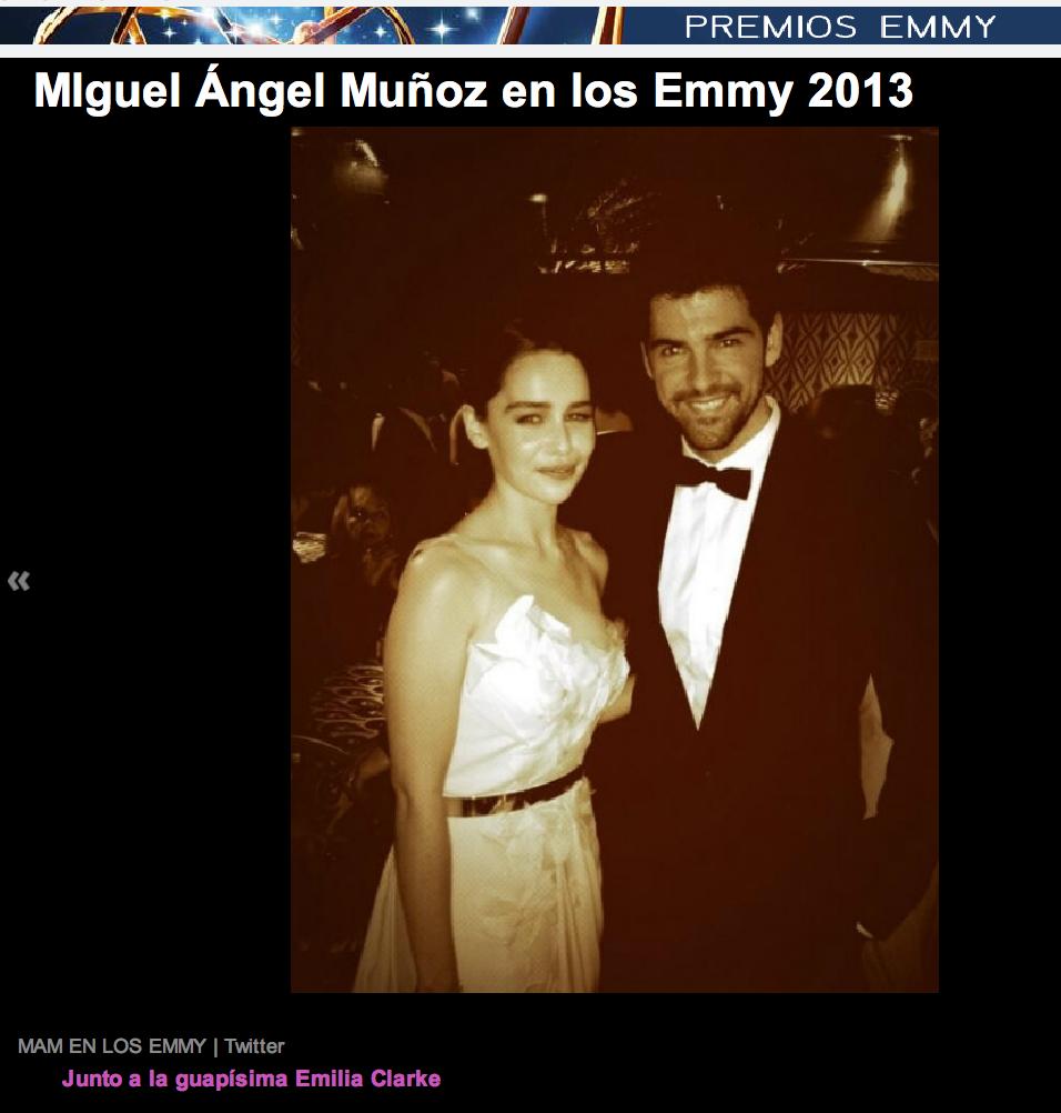 Miguel Angel Munoz Emilia Clarke
